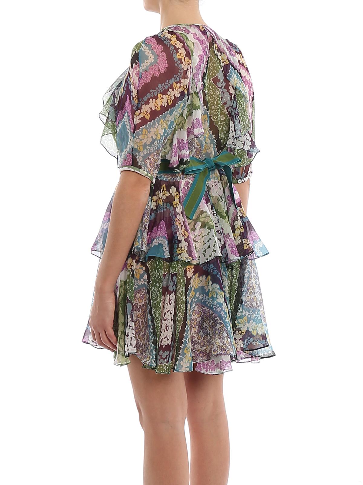 Floral printed silk georgette Delilah dress DSQUARED2 | 11 | S75CV0181S52496001S