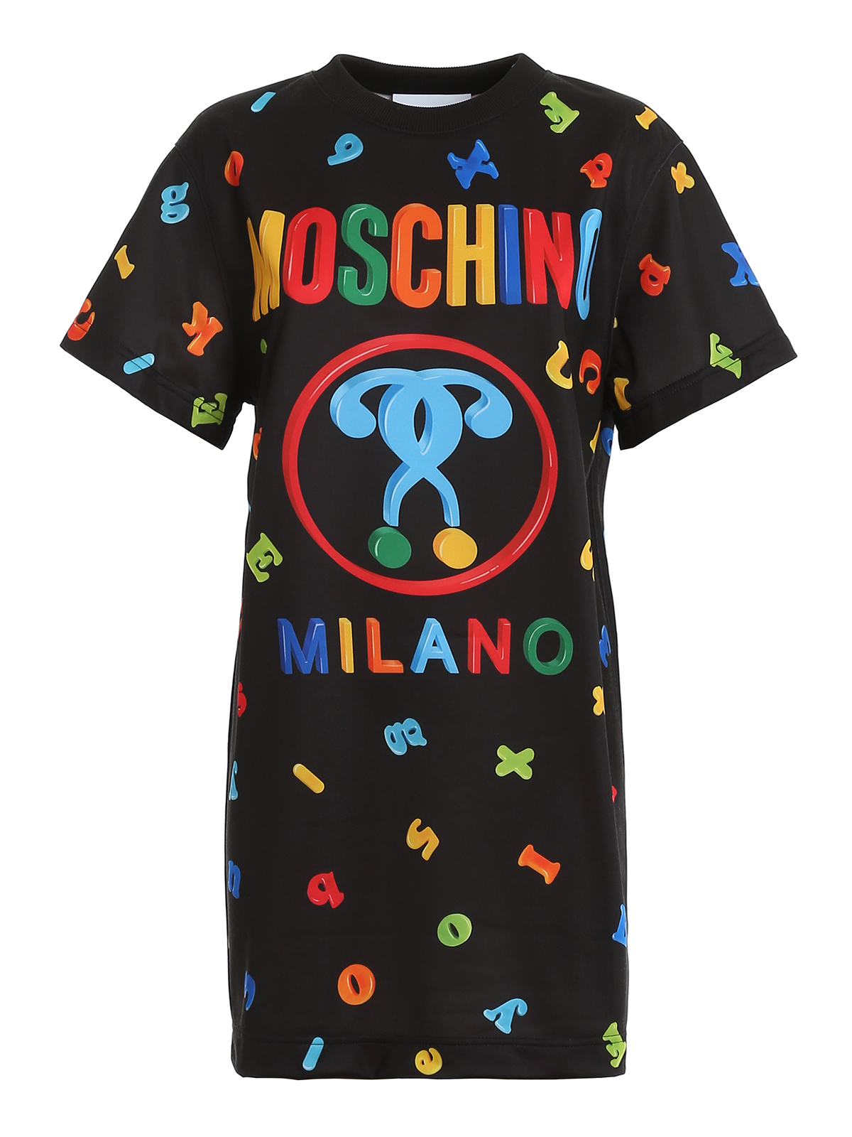 T-SHIRT STYLE LOGO DRESS MOSCHINO | 11 | 0444554A1555