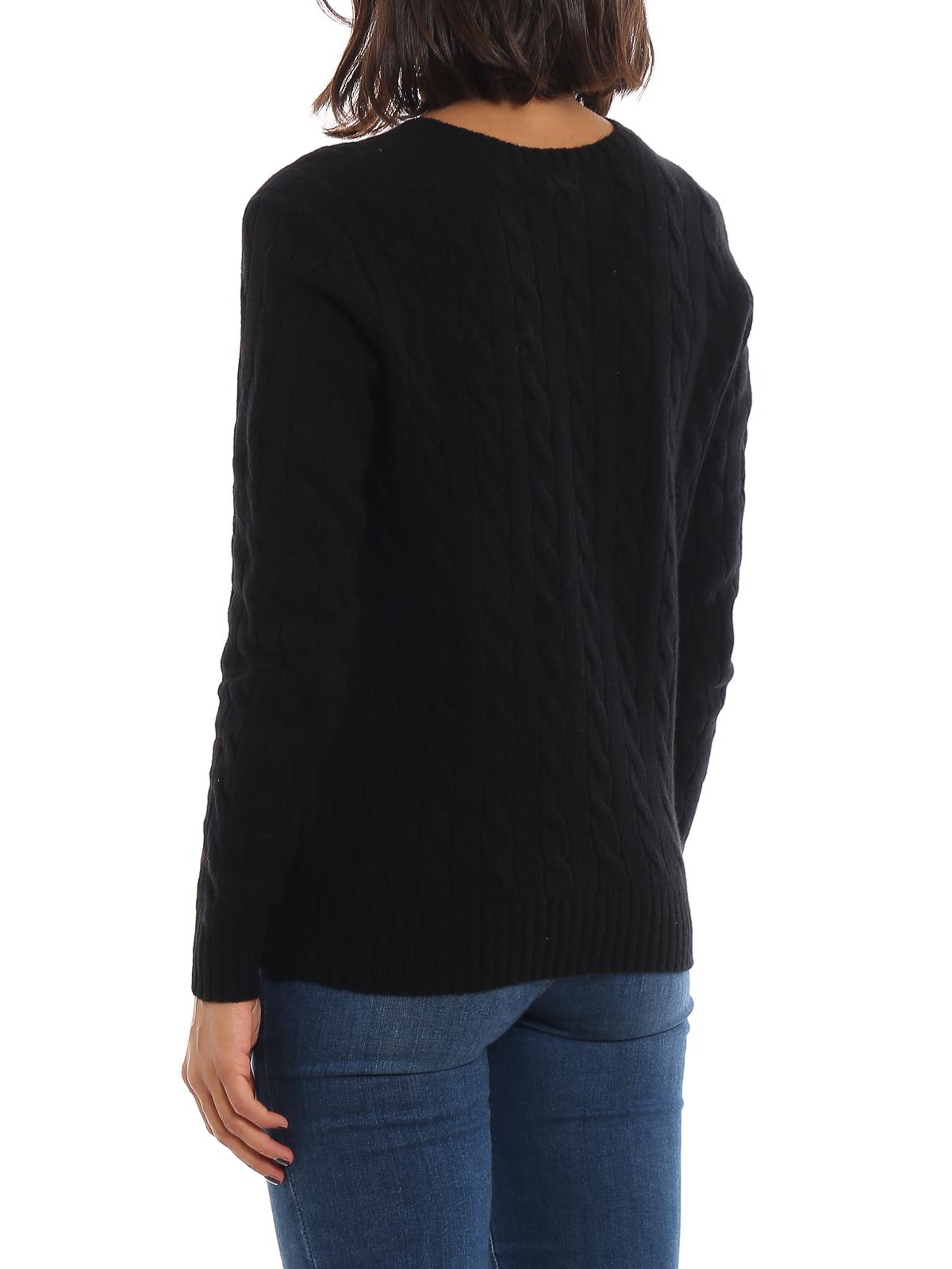 Black twist knit cotton sweater POLO RALPH LAUREN | -108764232 | 211525764002