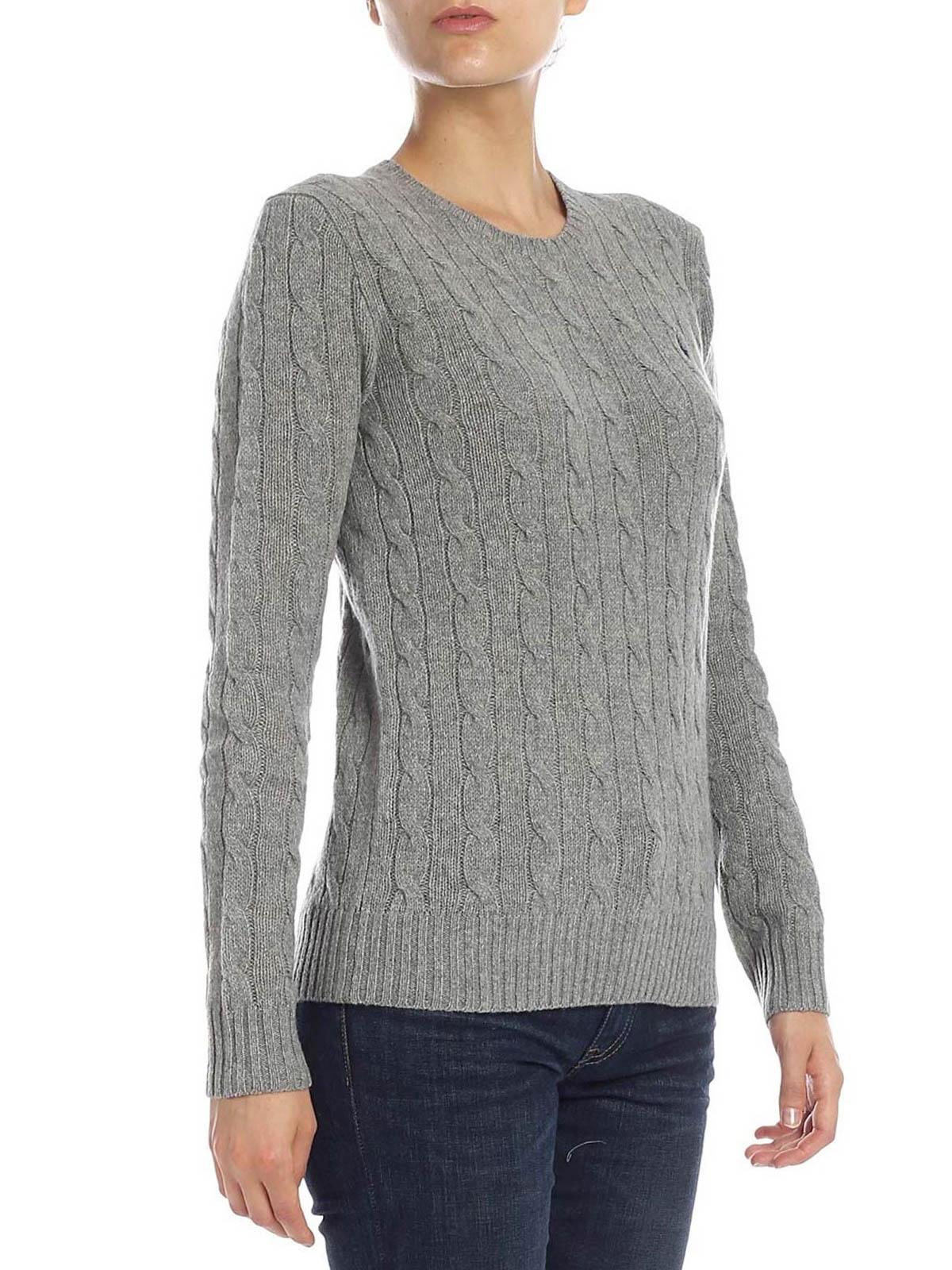 Grey twist knit cotton sweater POLO RALPH LAUREN | 7 | 211525764009