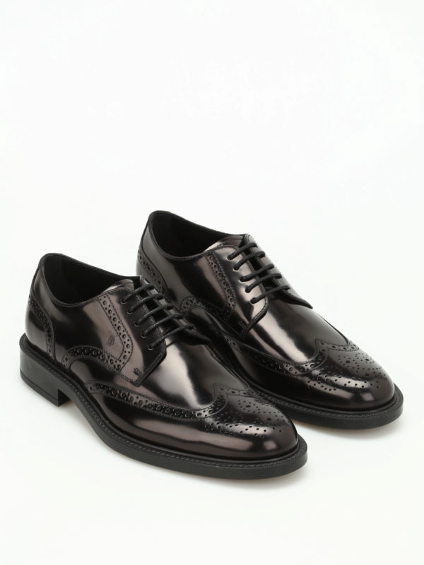 Lace-up in leather TOD