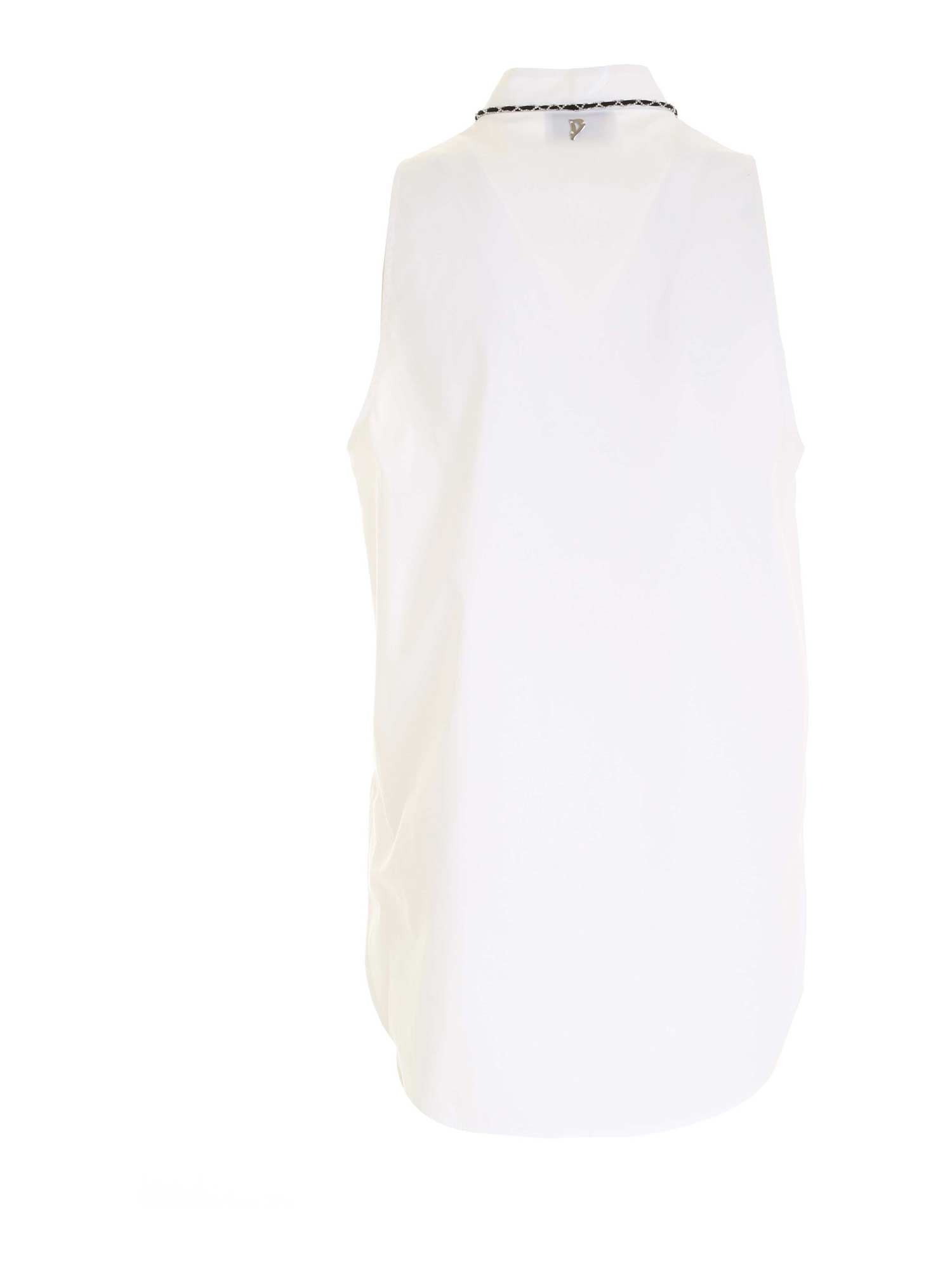 SLEEVELESS BLOUSE IN WHITE DONDUP | 10000004 | DC202PS0012DXXXDD000