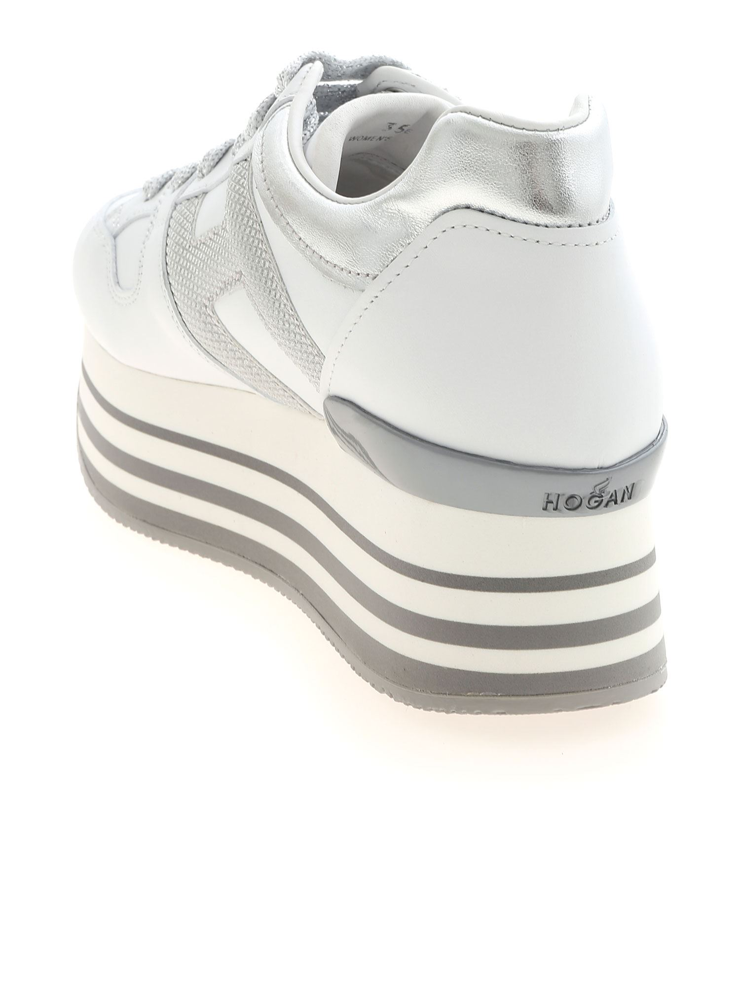 SNEAKERS H283 BIANCHE E ARGENTO HXW2830T548P940351