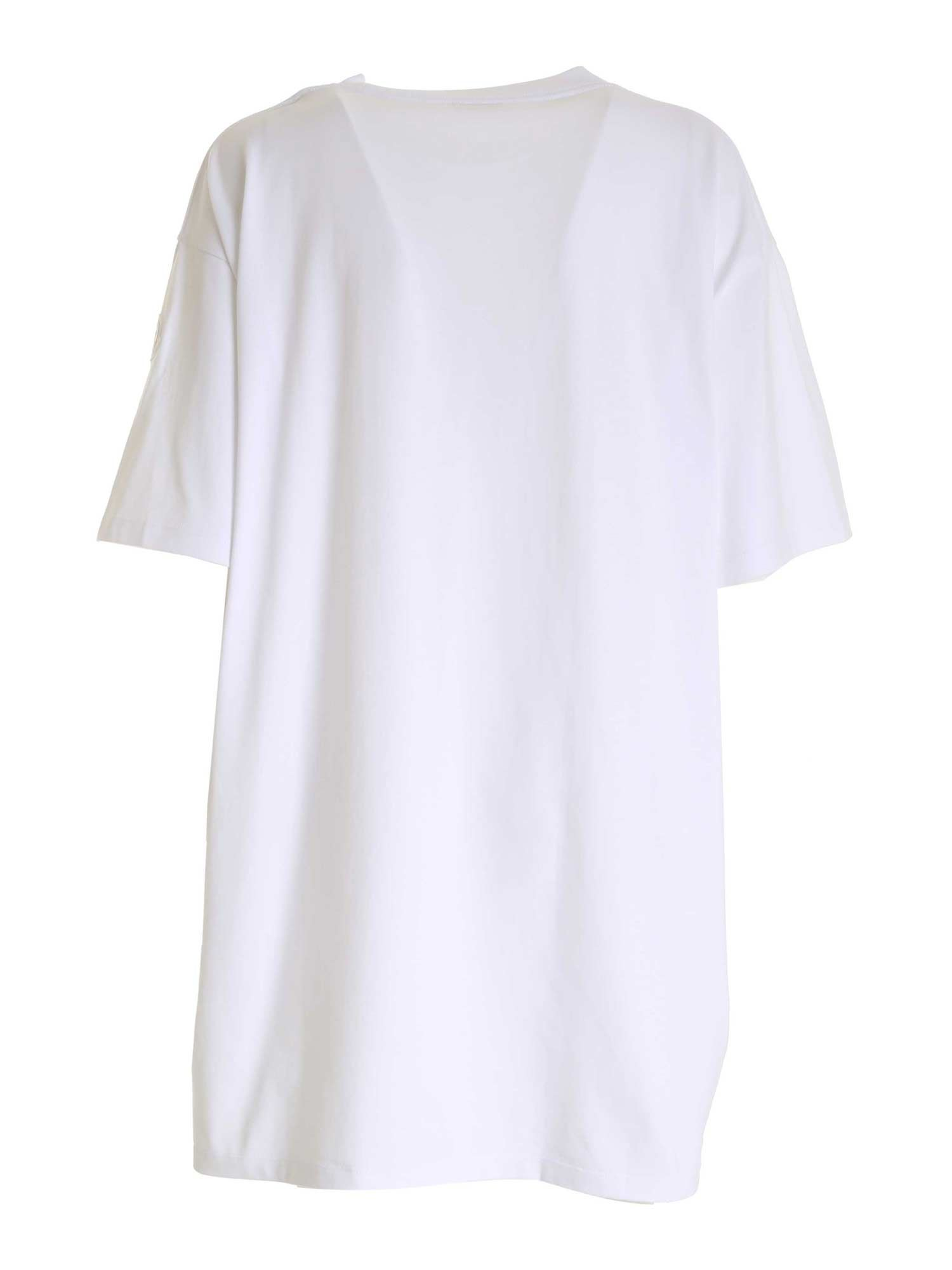 BRANDED MAXI T-SHIRT IN WHITE MONCLER   11   8C7A210829HP001