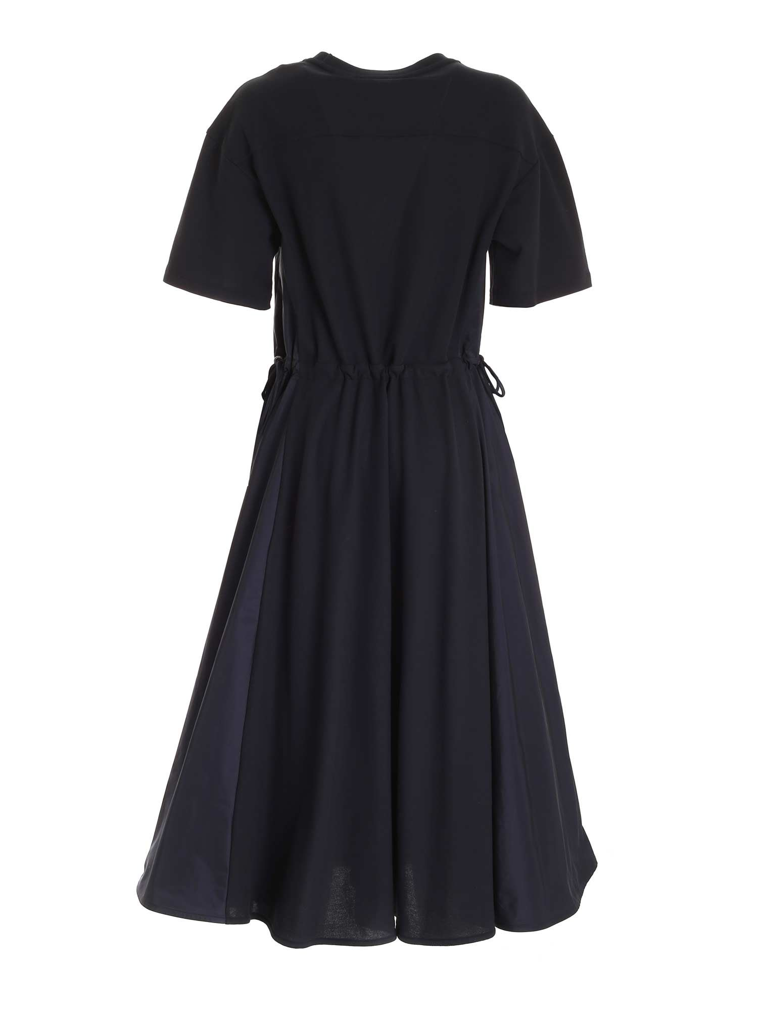LOGO EMBROIDERY LONG DRESS IN BLUE MONCLER | 11 | 8I7231084720778