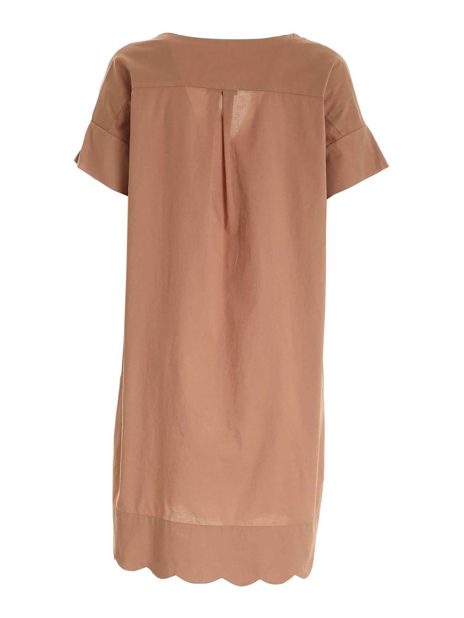 SHORT SLEEVES DRESS IN BROWN PAOLO FIORILLO CAPRI | 11 | 29401200118