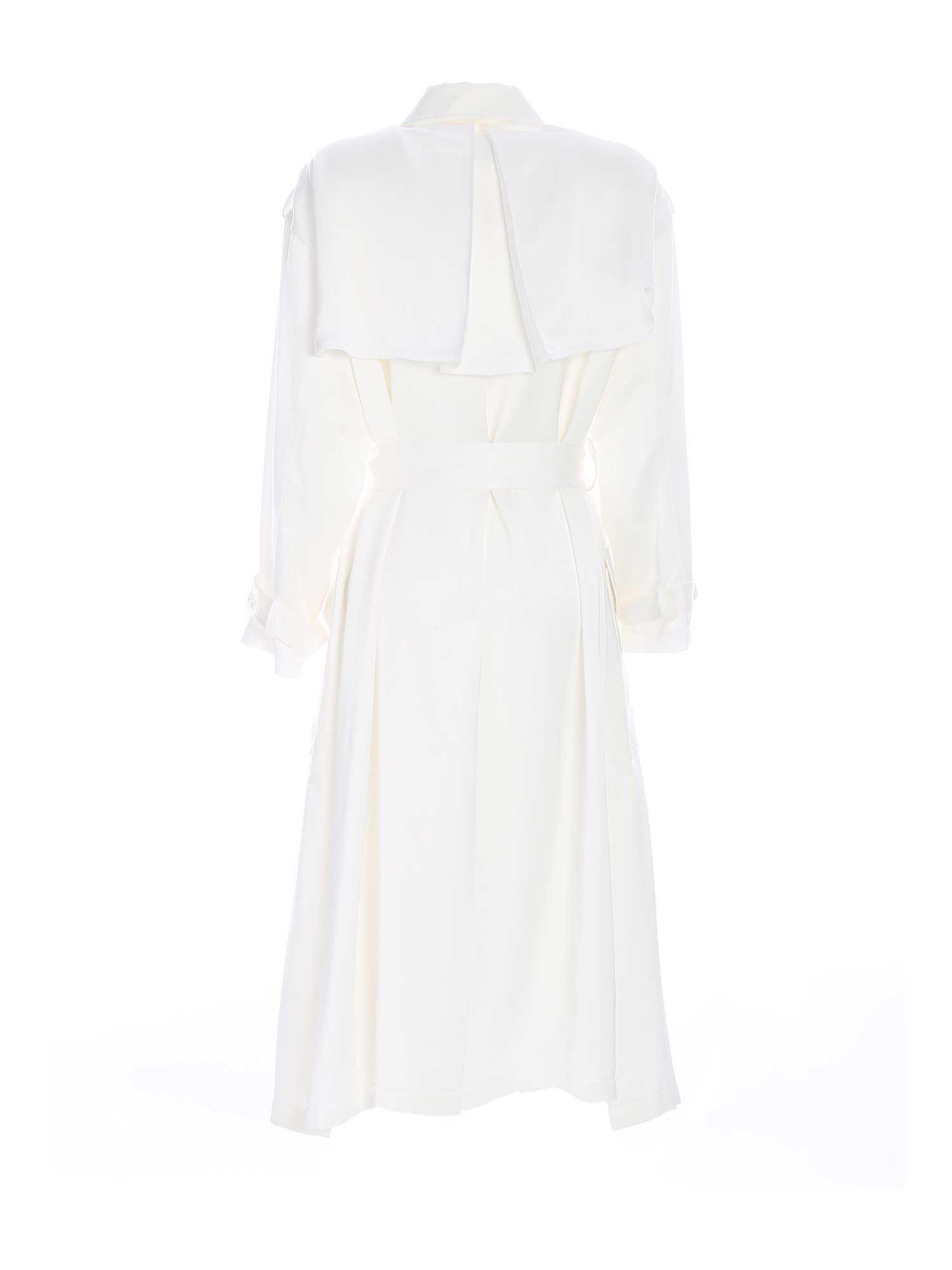 DOUBLE-BREASTED TRENCH COAT IN WHITE PAOLO FIORILLO CAPRI | 10000015 | 29503004702
