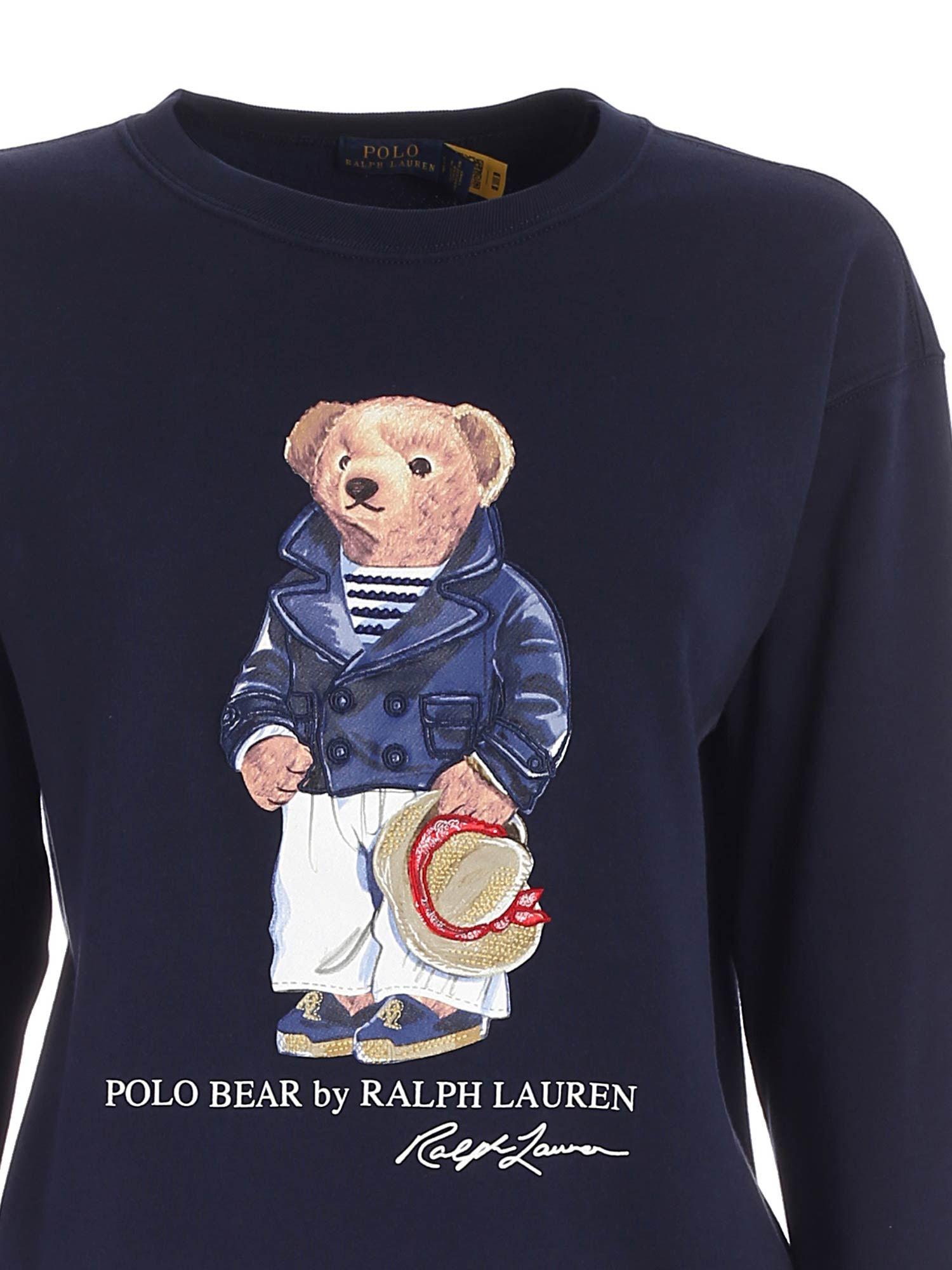 TEDDY PRINT SWEATSHIRT IN BLUE POLO RALPH LAUREN | -108764232 | 211827921001