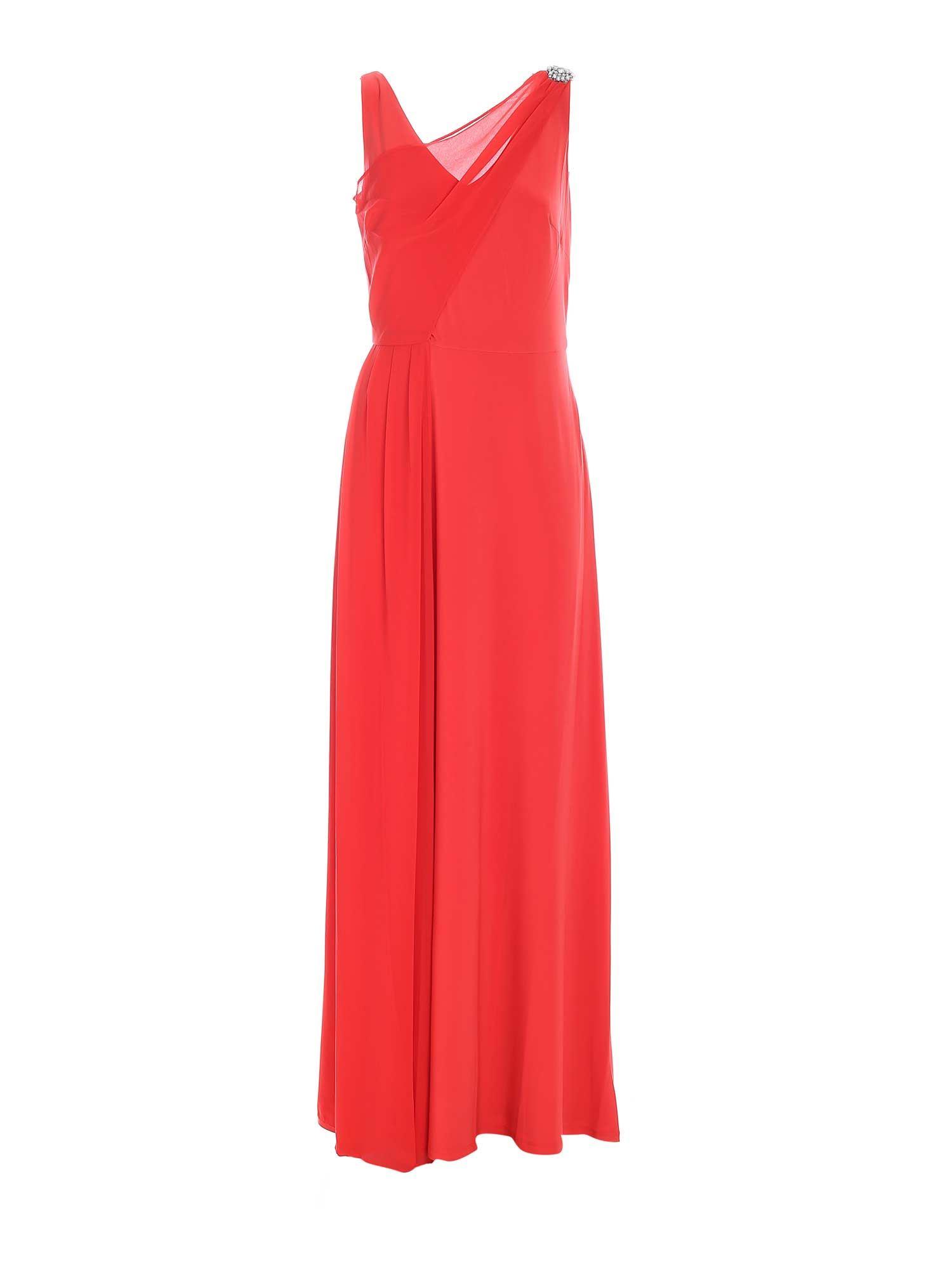 RHINESTONE DETAIL LONG DRESS IN RED POLO RALPH LAUREN | 11 | 253830084003
