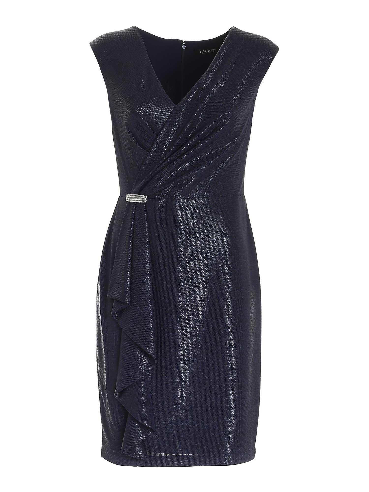 JEWEL DETAIL DRESS IN BLUE POLO RALPH LAUREN   11   253832600002