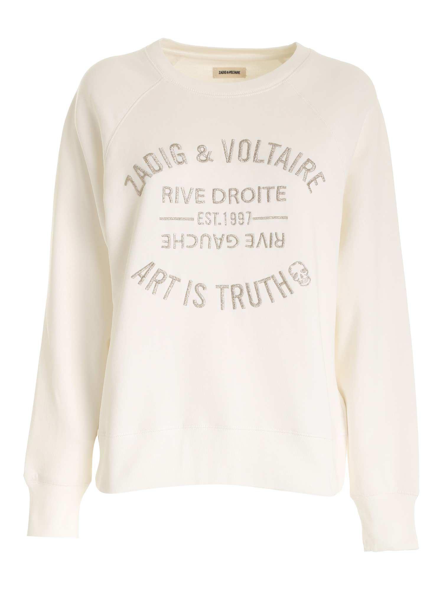 LOGO SWEATSHIRT IN WHITE ZADIG&VOLTAIRE   -108764232   SKTS7110FLAIT
