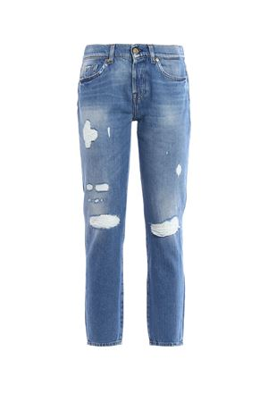 Josie Crop jeans 7 FOR ALL MANKIND | 24 | SL9R520RGDISTRESSEDMID