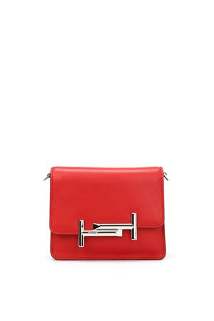 Double T mini leather clutch TOD