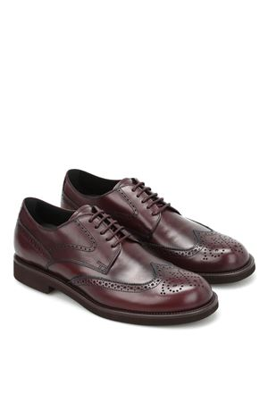 Leather Derby brogue TOD