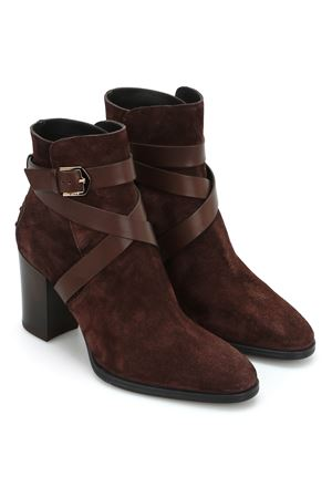 Strap detailed suede booties TOD