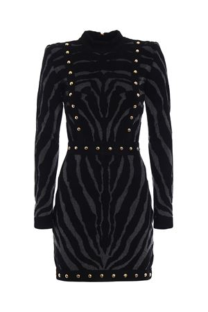 Velvet and lurex dress BALMAIN | 11 | 113657920MC0100