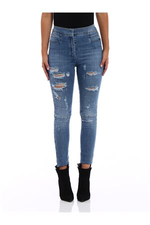 Ripped high waisted skinny jeans BALMAIN | 24 | 115421133KC3140
