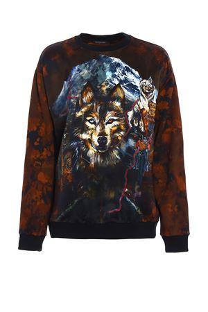 Satin panelled printed sweatshirt BALMAIN | -108764232 | 118513683IC5069