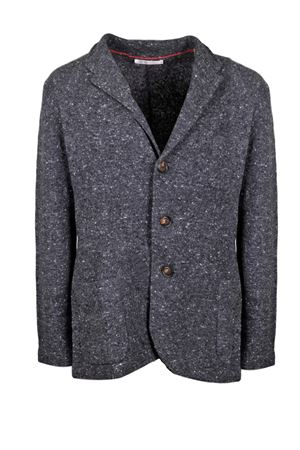 Wool and cashmere melange cardigan detailed with two front patch pockets. BRUNELLO CUCINELLI | 39 | M4673906C3732
