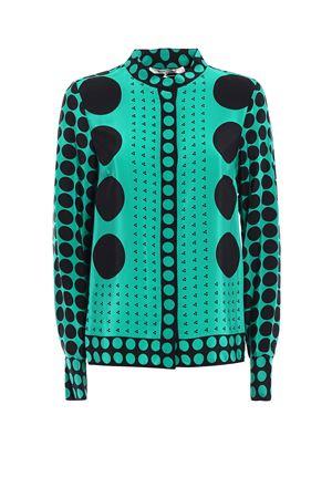 Brunel Evergreen print silk shirt DIANE VON FURSTENBERG | 6 | 10739BRUEV
