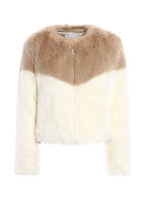 Colour block faux fur crop jacket DONDUP | 13 | DJ036PL170BXXXPDD007L