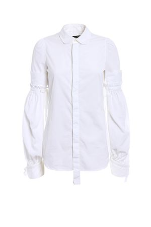 Puff sleeved cotton shirt DSQUARED2 | 6 | S72DL0498S36275100