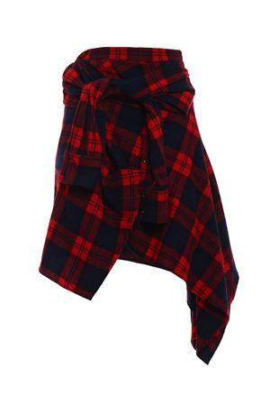 Tartan wool blend asymmetric skirt DSQUARED2 | 15 | S72MA0613S48212001F