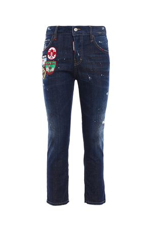 Jeans crop Cool Girl con toppe DSQUARED2 | 24 | S75LA0918S30342470