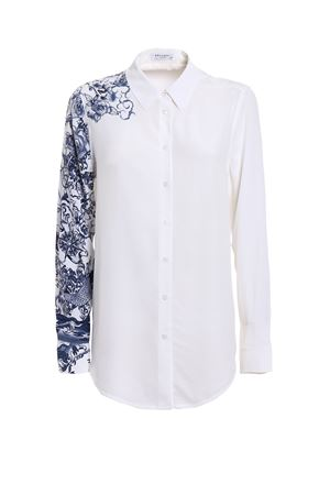 Essential printed sleeve silk shirt EQUIPMENT | 6 | Q2910E900BRIGHTWHT