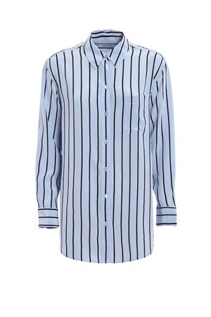 Daddy striped silk shirt EQUIPMENT | 6 | Q3005E002PEARLBLUETRUEBLACK