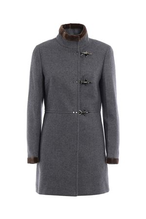 Virginia velvet trimmed coat FAY | 17 | NAW50354000HAPB802