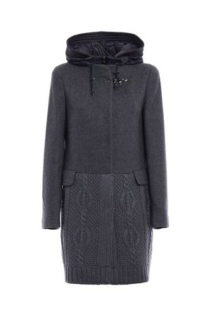 Knit wool and cloth hooded coat FAY | 18 | NAW59353070HAPB802