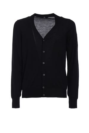 Cardigan nero in lana extra fine FAY | 39 | NMMC1352680KREB999