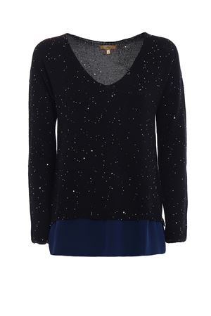 Sequined black wool sweater FAY | 7 | NMWC1355810OTHB999