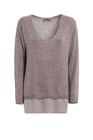 Sequined beige wool sweater FAY | 7 | NMWC1355810OTHC806