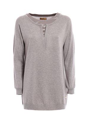 Silk sateen neckline wool sweater FAY | 7 | NMWC1355950OXZB204