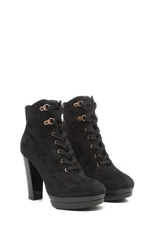 Heeled lace-up suede ankle boots HOGAN | 5032248 | HXW3130Z560DYPB999