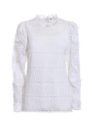 See-through lace white blouse MICHAEL DI MICHAEL KORS | 10000004 | MF74LA779R100