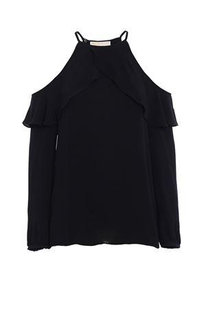 Crepe flounce blouse MICHAEL DI MICHAEL KORS | 40 | MU74L7A4YP001