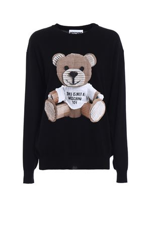 Pullover in lana con patch orso MOSCHINO | -1384759495 | 09075402555