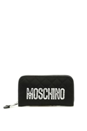 Nylon quilted wallet with logo MOSCHINO | 63 | 810282014555