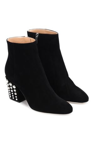 Elettra studded heel suede booties SERGIO ROSSI | 5032248 | A79080MAF3081498110