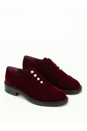 Mrspats velvet Oxford with pearls STUART WEITZMAN | 120000001 | WL62979BORDEAUX