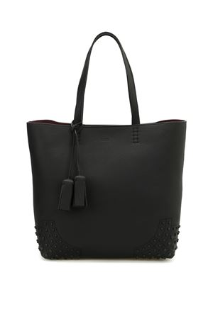 Wave Bag medium leather tote TOD