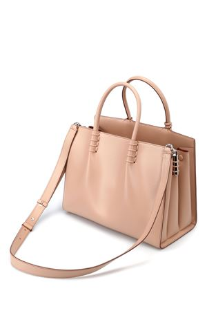 Smooth leather medium shopping bag