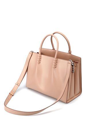 Smooth leather medium shopping bag