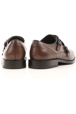 Monk strap shoes in semi-glossy leather  TOD