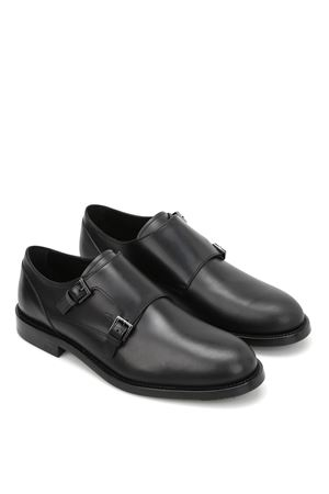 Semi-glossy leather monk straps TOD