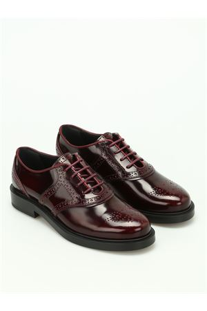 Polished brogue lace-up shoes TOD