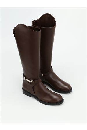 Double T brown leather boots TOD